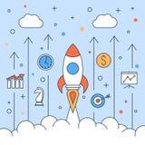 Rocket start up design Royalty Free Stock Images
