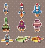 Rocket stickers. Cartoon vector illustration stock illustration
