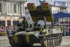 Rocket system in Russia. Russian rocket system, victory day celebration Royalty Free Stock Photo