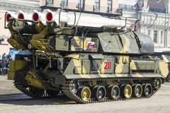 Rocket system in Russia. Russian rocket system, victory day celebration Royalty Free Stock Images