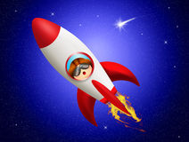 Rocket taking off Royalty Free Stock Photos
