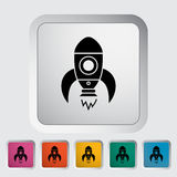 Rocket. Thin line flat vector related icon for web and mobile applications. It can be used as - logo, pictogram, icon, infographic element. Vector Illustration vector illustration