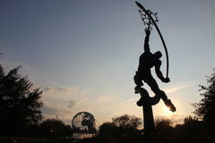 Rocket Thrower,  Corona Park. Rocket Thrower, Corona Park, New York Royalty Free Stock Photo