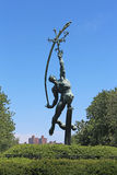 The Rocket Thrower. By Donald De Lue, commissioned for the 1964/1965 New York World's Fair Stock Images