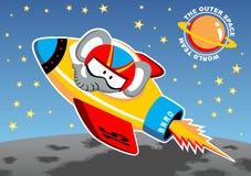 Rocket vai ao espaço ilustração royalty free