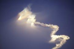 Rocket Vapor In Sky, base de las fuerzas aéreas de Vandenberg, California Fotos de archivo libres de regalías