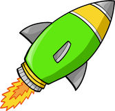 Rocket Vector. Fast Rocket ship Vector Illustration Royalty Free Stock Photography