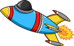 Rocket Vector. Fast Rocket Ship Vector Illustration Royalty Free Stock Photos