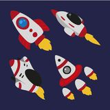 Rocket vector collection design royalty free illustration