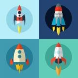 Rocket vector. Elements web design. Vector illustration Stock Photos