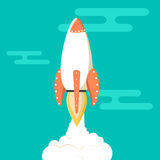 Rocket vector icon. royalty free illustration