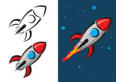 Rocket Vector Illustration Arkivbilder