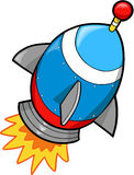 Rocket Vector Illustration. Cute Fast Rocket Vector Illustration Royalty Free Stock Images