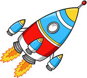Rocket Vector Illustration. Cute Fast Rocket Vector Illustration Stock Image