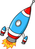 Rocket Vector Illustration. Cute Fast Rocket Vector Illustration Royalty Free Stock Photography