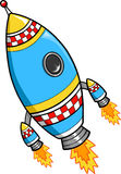 Rocket Vector Illustration. Fast Rocket Ship Vector Illustration Royalty Free Stock Photos