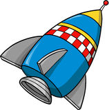 Rocket Vector Illustration. Cute Blue Rocket Vector Illustration Stock Photos