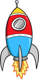 Rocket Vector Illustration Stock Photography