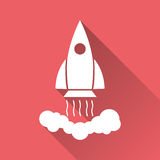 Rocket vector pictogram icon. Simple flat pictogram for business, marketing, internet concept. Business startup launch concept for web site design or mobile Stock Images