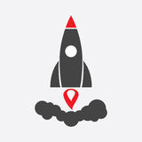 Rocket vector pictogram icon. Royalty Free Stock Photography
