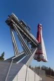 Rocket Vostok bakre sikt Arkivfoton