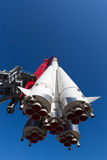 Rocket Vostok flying in the sky Royalty Free Stock Photos