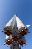 Rocket Vostok-Front und -unterseite Stockbild