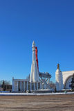 The rocket Vostok on the launch pad Royalty Free Stock Photography
