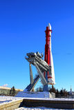 The rocket «Vostok» on the launch pad in Moscow Stock Image