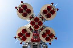 Rocket Vostok sikt underifrån Royaltyfri Bild