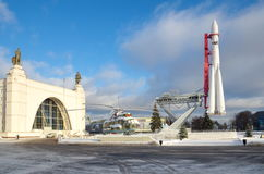 Rocket `Vostok` at VDNKH, Moscow, Russia Stock Photo