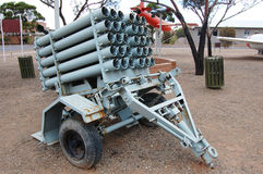 Rocket weapon at open air museum Stock Image