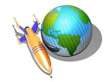 Rocket y tierra Imagen de archivo libre de regalías