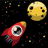 Rocket zum Mond vektor abbildung