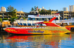 RocketBoat in Pier 39, San Francisco Stock Image