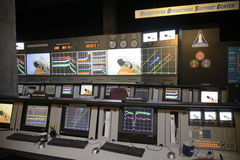 Rocketdyne operations support center display Royalty Free Stock Images