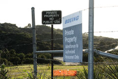 Rocketdyne Site Boeing Sign royalty free stock photography