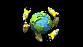 Rockets auf der ganzen Welt stock abbildung