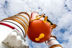 Rockets bei Kennedy Space Center stockfotografie