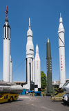 6 rockets. A breath taking collection of rockets at the Marshall Space Flight Center Stock Photo