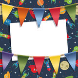 Rockets and bunting Stock Photography