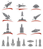 Rockets collection set. Vector Royalty Free Stock Image