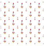 Rockets cute and colorful space doodles seamless pattern backgro Royalty Free Stock Image