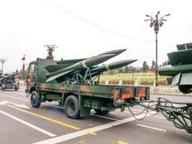 Rockets, esercito alla parata del 1° dicembre Immagine Stock Libera da Diritti