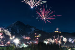 Rockets firework at new years day Royalty Free Stock Photos