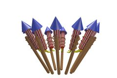 Rockets for fireworks Stock Photo