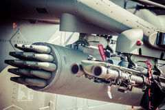 Rockets on helicopter Royalty Free Stock Photo