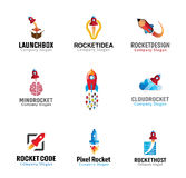 Rockets Launch Flight Design Fotografia Stock Libera da Diritti