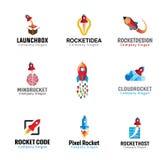 Rockets Launch Flight Design. Illustration Royalty Free Stock Photo