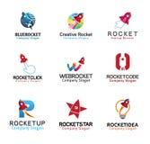 Rockets Launch Flight Design. Illustration Stock Photos